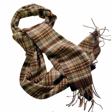 Brown Cashmere Feel Men Scarf