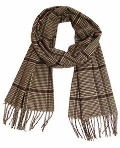 Brown Hounds tooth Cashmere Feel Men Scarf