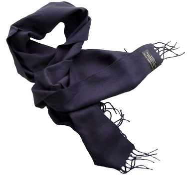 Solid Navy Cashmere Feel Mens Scarves