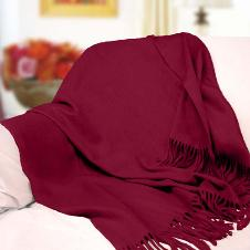 Fabulous Pure Cashmere Throw (Maroon)