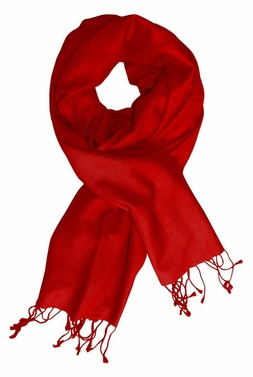 Red Soft Elegant Cashmere & Silk Pashmina Shawl