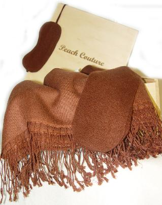 Cashmere & Silk Travel Set (Chocolate Brown)