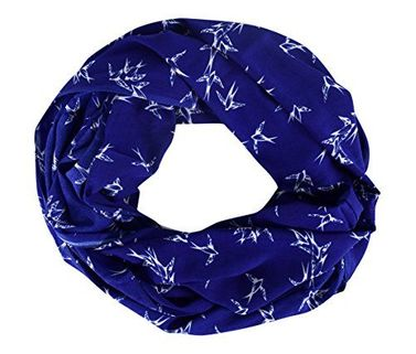 Chic Bird Print Infinity Scarves