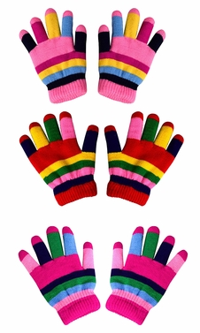 Children�s Toddler Warm Winter Gloves and Mittens Value packs (Rainbow 2 Little Kids(4 to 8 years)