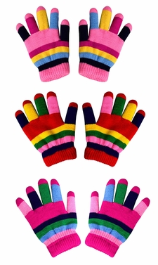 Rainbow Toddler Warm Winter Gloves and Mittens Value packs (2 to 4 years)