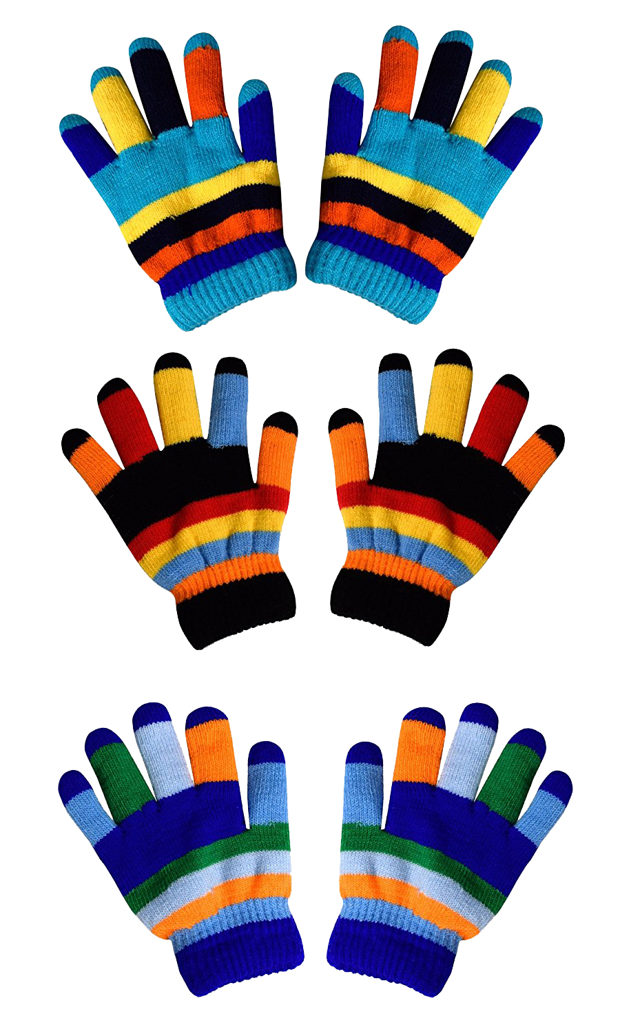 Rainbow 3 Toddler Winter Gloves and Mittens Value packs