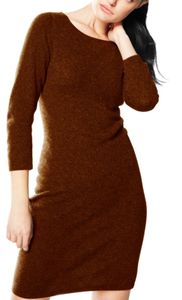 Chocolate Warm and Soft 100% Cashmere Bodycon Sweater Dress