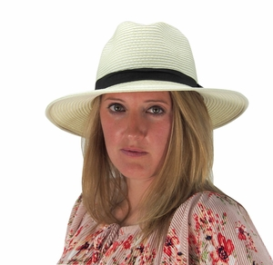 Panama Hats Banded Fedora Hats (More Colors)