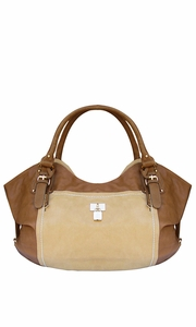 Sand TAN Top Handle Oversize Tote Handbag Purse