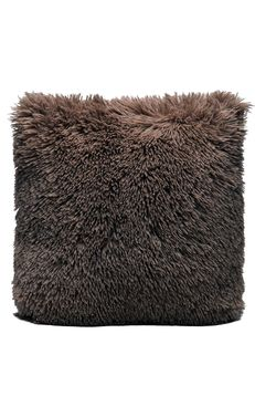 Couture Home Collection D�cor Fuzzy Super Soft Cozy Pillow Brown