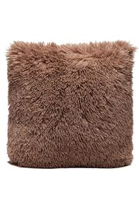 Couture Home Collection D�cor Fuzzy Super Soft Cozy Pillow Light Brown