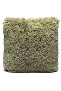 Couture Home Collection D�cor Fuzzy Super Soft Cozy Pillow Light Green