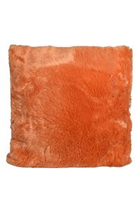 Couture Home Collection D�cor Fuzzy Super Soft Cozy Pillow Orange