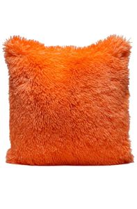 Couture Home Collection Décor Fuzzy Super Soft Cozy Pillow Orange