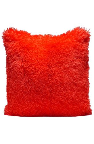 Couture Home Collection Décor Fuzzy Super Soft Cozy Pillow Red