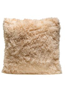 Couture Home Collection D�cor Fuzzy Super Soft Cozy Pillow Tan