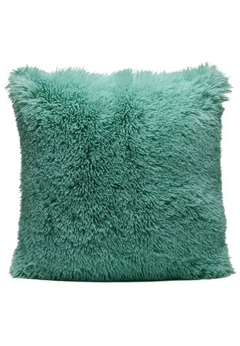 Couture Home Collection D�cor Fuzzy Super Soft Cozy Pillow Teal