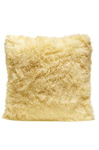 Couture Home Collection D�cor Fuzzy Super Soft Cozy Pillow Yellow