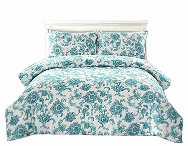 Blue Floral Dream 3 pcs Comforter Set