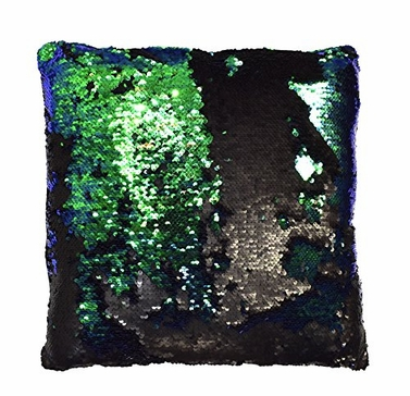 Haute D Reversible Sequin Decorative Color Changing Mermaid Throw Pillow