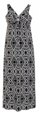 Damask & Print Summer Sleeveless Bodycon Maxi Dress