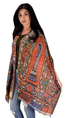 Digital Print Long Scarf Wrap Shawl