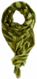 Electrifying Stylish Zebra Animal Print Fashion Scarf/wrap/shawl (Green/Forest Green)