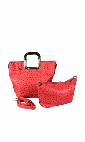 Coral Personified 2 in 1 Tote and Satchel Exquisite Handbags