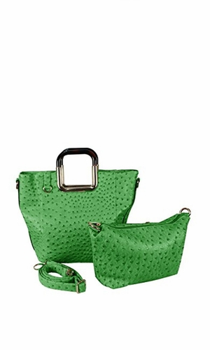 Green Personified 2 in 1 Tote and Satchel Exquisite Handbags