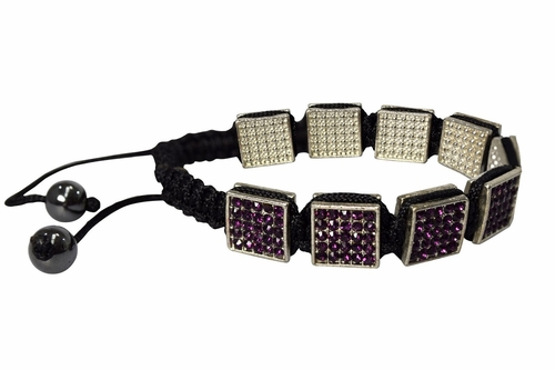 Elegant Square Shamballa Adjustable Bracelet