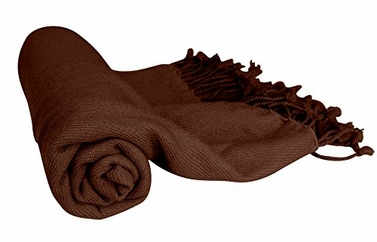 Chocolate Brown 100% Cashmere Soft Elegant and Warm Throw Blanket