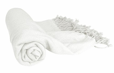 Fabulous 100% Cashmere Soft Elegant and Warm Throw Blanket (Off White)