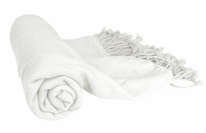 Off White 100% Cashmere Soft Elegant and Warm Throw Blanket