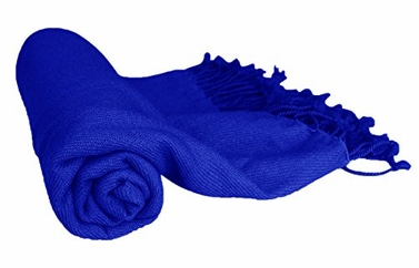 Royal Blue 100% Cashmere Soft Warm Throw Blanket