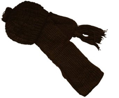 Fall Winter Outdoor Matching Hat and Scarf Knit Set
