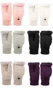 Fingerless Gloves with Mitten Cover and Sherpa Faux Fur Lining
