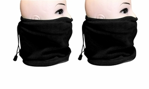 Black Versatile Ski Mask  2-Pack Set