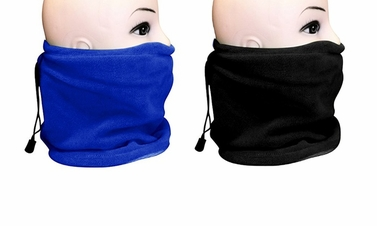 Blue/Black Versatile Ski Mask 2-Pack Set