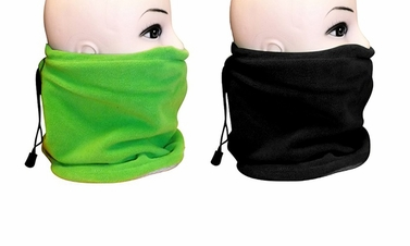 Green/Black Versatile Ski Mask 2-Pack Set