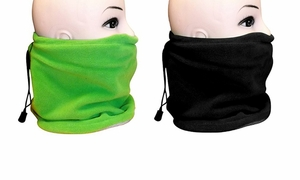 Fleece Lined Versatile Ski Mask 2-Pack Set (Green/Black)
