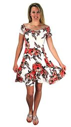 Ivory Floral Print Princess Seam Cocktail Skater Dress