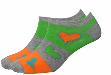 Girl's Bright Hearts Colorful Value 5 pack Socks (Size 4 - 10 Large)