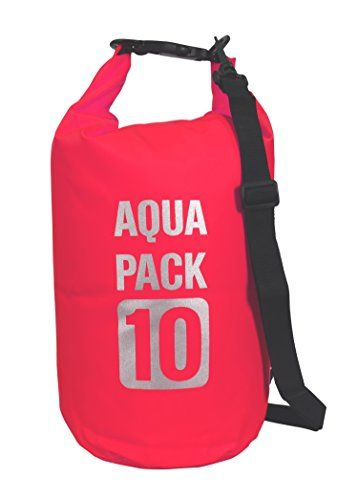 Fuchsia Waterproof Dry Pack Bag-Roll Top Dry Compression Sack Keeps Gear Dry for Kayaking, Beach, Rafting, Boating, Hiking, Camping and Fishing 10 Litre