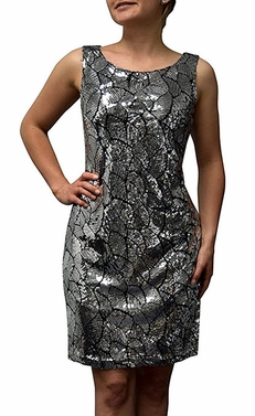 Leaf Sparkling Sequin Cocktail Dress