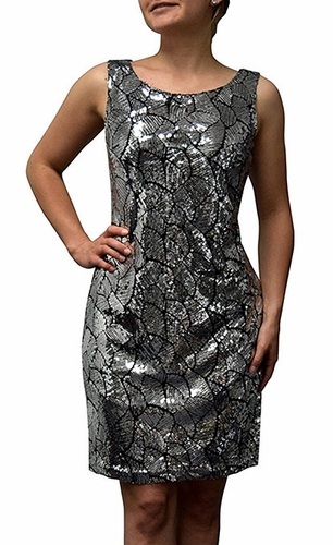 Leaf Sparkling Cocktail Dress