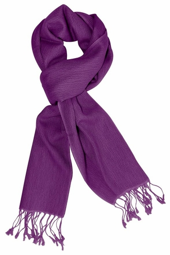 Purple Warm Cashmere & Silk Scarf