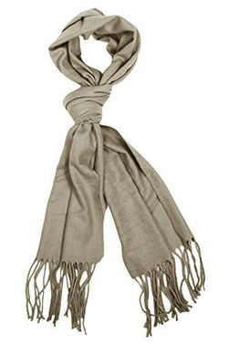 Grey Soft Light Unisex Cashmere Feel Wrap Scarf