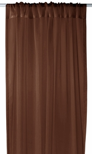 """Home Collection Light and Elegant 1 Piece Solid Color Sheer Window Treatment Curtain Panel with Rod Pocket - 54"""" X 84"""" (Chocolate Brown)"""