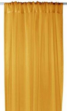 "(Gold Light 1 Piece Solid Color Sheer Window Treatment Curtain Panel with Rod Pocket - 54"" X 84"""