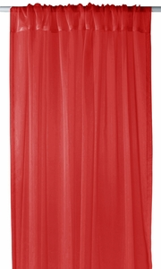 "Red Light 1 Piece Solid Color Sheer Window Treatment Curtain Panel with Rod Pocket - 54"" X 84"""